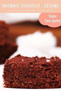 Brownie choco/sésame vegan & sans gluten