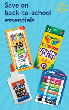 "Make sure your kids are set up for success this school year with back to school basics from Walmart. From pens and pencils to notebooks, backpacks and so much more - we've got you covered. Your child's class supply list is shoppable at Walmart.com/mysupplies. Select ""add all items""in your child's class supply list and ship them directly home."