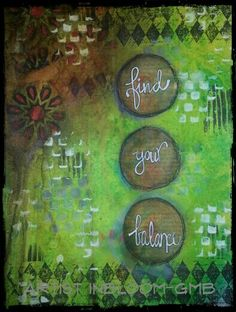 Find your Balance-Art Journal Page