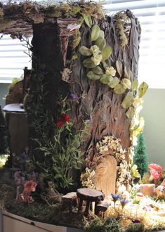 https://flic.kr/p/nvHrUZ | Fairy House | I think it will never be done, but I haven't shown the progress for a while. The house itself is done, but the plastic furniture needs some aging. This is where the Real Pukis live. Made by me of paper mache and cardboard.