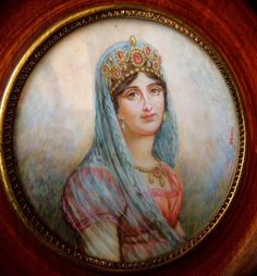 Antique MINIATURE PORTRAIT OF Empress   joséphine