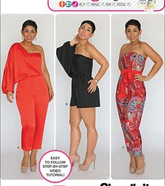 Simplicity Patterns Us1115H5-Simplicity Misses' Long Or Short Jumpsuit From Mimi G-6-8-10-12-14