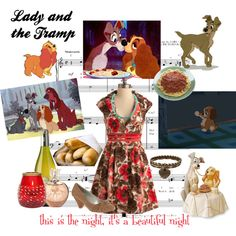 Lady and the Tramp, created by maddie-madhatt3r on Polyvore