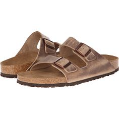 dad0c0cacc14 SEE IT - Birkenstock Arizona Soft Footbed - Leather (Unisex) (Tobacco)  Sandals Please be advised that the Birkenstock® Narrow width accommodates  both ...