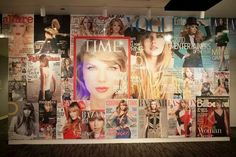 The Taylor Swift Experience at the Grammy Museum! I just love this wall!
