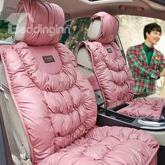 Prep My Ride - Pink Girly Seat Covers - Preppy