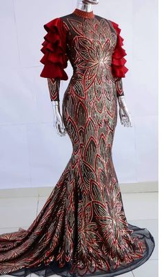 Nigerian Lace Styles Dress, Aso Ebi Lace Styles, African Maxi Dresses, Lace Dress Styles, Latest African Fashion Dresses, African Dresses For Women, African Attire, Classy Gowns, Classy Dress