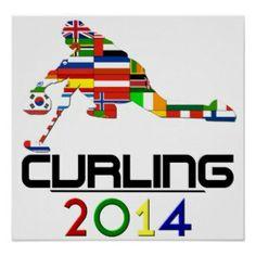 Sochi 2014 Winter Olympics Curling Posters via Zazzle. Olympic Curling, Curling Stone, Winter Olympics, Olympic Sports, Custom Posters, Snorkeling, Custom Framing, Favorite Quotes, Skateboard