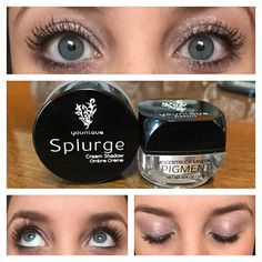 Younique Splurge Cream Shadow in Dainty and Mineral Pigment in Sexy, plus Younique 3D Fiber Lashes! www.youniqueproducts.com/RileyGreen