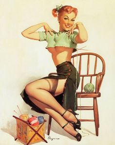 My favorite pin up hands down - A Spicy Yarn 1952
