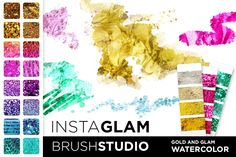 #InstaGlam up your designs: sparkle, shine, shimmer... be incandescent! #graphicdesign #webdesign... InstaGlam brush studio http://crtv.mk/fnoE glam and watercolor... is it possible???
