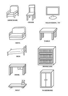 m bel und zimmer die wohnung arbeitsblatt vocabulary worksheets vocabulary list and worksheets. Black Bedroom Furniture Sets. Home Design Ideas