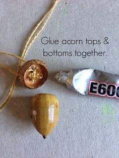WhiMSy love: DIY: Happy Acorn Necklaces
