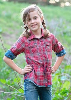 R'Belle Double Layered Plaid Shirt