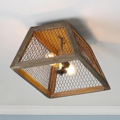 Chicken Wire Shade Ceiling Light