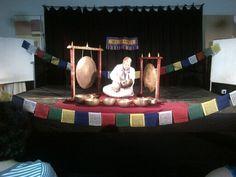 Maryna performing singing bowl meditation at klein karoo national arts festival 2013