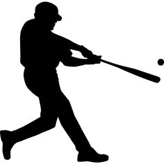 baseball batter shadow wood pattern batter up make this life size rh pinterest com Baseball Silhouette Vector Vector Baseball Boy