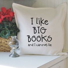 I like big books and I cannot lie – cotton pillow cover