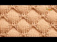 Cómo Tejer Punto MARIPOSA - 2 agujas (476) - YouTube