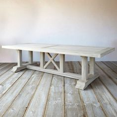 Protected Teak Country Dining Table ($3,698) ❤ liked on Polyvore featuring home, furniture, tables, dining tables, grey, teak table, gray dining table, farm house dining table, farmhouse dining table and farmhouse tables #countryfurniture