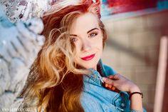 by Laura Norinkevičiūtė (www.laphotto.com) #portrait #face #smile #girl #redlips #light #colors #blondhair #wind #blueeyes #laphotto