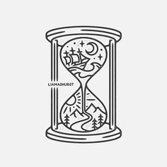 Had the pleasure of working on this fun hourglass tattoo commission based on the clients concept! Hourglass Drawing, Hourglass Tattoo, Ink Illustrations, Illustration Art, Blue Marble Wallpaper, Sloth Tattoo, Faith Crafts, Simple Art, Doodle Art