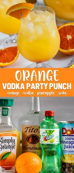 Orange Vodka Party Punch is an easy cocktail recipe for a party. Just 4 ingredie. Orange Vodka Party Punch is an easy cocktail recipe for a party. Just 4 ingredients make up this easy punch recipe: orange juice, pineapple juice, vodka, and soda! Orange Juice And Vodka, Beste Cocktails, Easy Cocktails, Easy Vodka Drinks, Simple Cocktail Recipes, Vodka Mixed Drinks, Popular Cocktails, Frozen Drinks, Cocktail