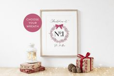 Personalised Christmas Family Wreath Print - Family Christmas Print - Custom Family Gift - Xmas Print - Christmas Decor - Family Xmas Gift