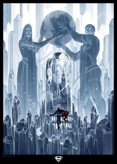 The Fortress of Solitude and the bottle city of Kandor Superman Poster, Superman Art, Superman Family, Batman, Dc Comics Superheroes, Dc Comics Characters, Dc Heroes, Comic Book Heroes, Dragon Ball Z
