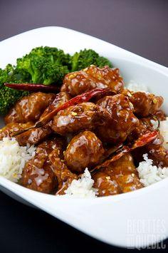 General tso's chicken healthy chicken recipes general tso, healthy Easy Chinese Chicken Recipes, Healthy Chicken Recipes, Turkey Recipes, Asian Recipes, Dinner Recipes, Cooking Recipes, Turkey Food, Colombian Recipes, Easy Recipes