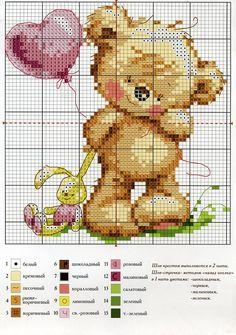 #ponto cruz #gráfico ponto cruz #urso <3