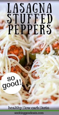 Lasagna Stuffed Peppers (Low Carb and Keto Recipe)