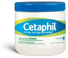 Cetaphil Moisturizing Cream:  This is the BEST face cream EVER!