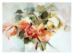 Gartenmalereien: Rosen aquarellieren mit Heinz Hofer