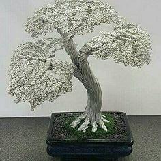 Op maat gemaakte aluminium draad bonsai boom.