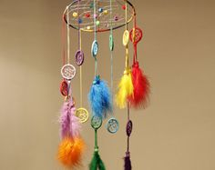 Small Dreamcatcher mobile by Memoriesdreams on Etsy