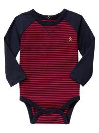 Baby Gap Striped raglan bodysuit