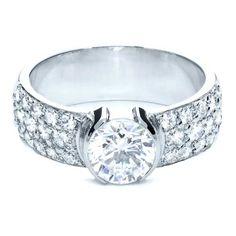 Diamond Pave Engagement Ring #206