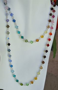swarovsky crystal beads necklace