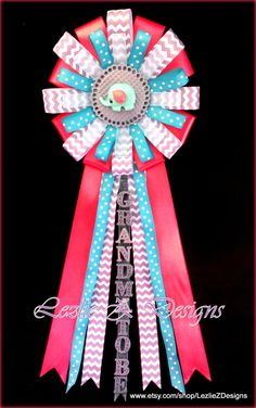 Coral Teal Elephant Mommy to Be Baby Shower por LezlieZDesigns