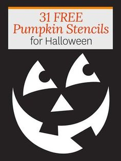 Use these stencil patterns to create cute (or creepy) Halloween pumpkins that will surprise your guests.