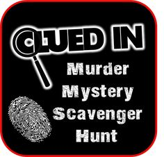 Clued-In Murder Mystery Scavenger Hunt - Printable Party Game Inspired by Clue Tween Party Games, Graduation Party Games, Birthday Party For Teens, Teen Parties, Teen Birthday, Superhero Party, Adult Scavenger Hunt, Halloween Scavenger Hunt, Scavenger Hunts