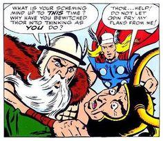 The Marvel take on Odin and Loki.