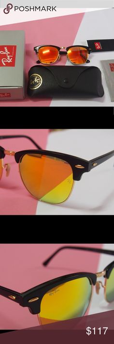 0d8ebd9a98f 3016 clubmaster RB sunglasses RB clubmaster 3016 orange Brand new and no  scratches authentic and with original cases Any offer will be considered  It s ...