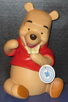 WINNIE THE POOH BANK WALT DISNEY CERAMIC WISH ON THE WINGS OF A BUTTERFLY ENESCO