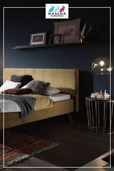 HASENA Dream-Line-Bett Lungo 23/2S mit Kopfteil Combia und Fusselement Fasio in Bronze Line, Bronze, Bedroom, Furniture, Home Decor, Beds, Simple Lines, Decoration Home, Fishing Line