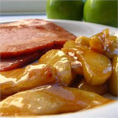 Sauteed Apples. I used 1/2 again as many apples so there wasn't a ton of sauce left over and it was perfect!