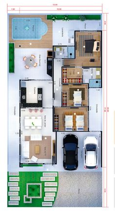 Modern Bungalow House Design, Modern House Floor Plans, Modern Small House Design, Sims House Plans, Sims House Design, Home Design Floor Plans, House Layout Plans, Home Building Design, Family House Plans