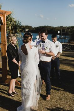 A sunny, brilliant winters day at Qld Yacht Club, Shorncliffe Qld. Wonderfully happy people, the bride and groom never stopped smiling. Incredibly happy people. #kaywaldingcelebrant #myweddings