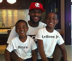 7cfa2e7fbbe LeBron James  kids - sons Bryce and LeBron jr. Lebron James And Wife